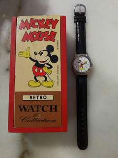 Winding Mickey Mouse watch