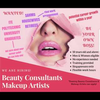 15bff30449c Looking for beauty consultants and makeup artists
