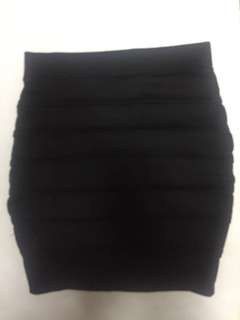 Black bandage skirt, M stretch, Free shipping