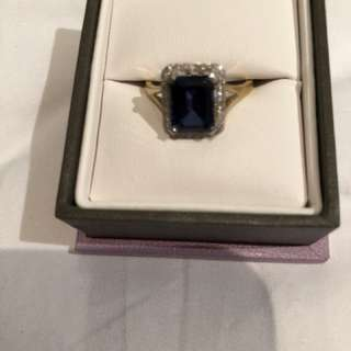 Michael hills blue sapphire ring size medium unwanted gift