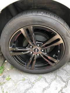 De-kit 17 inch rim with tyre