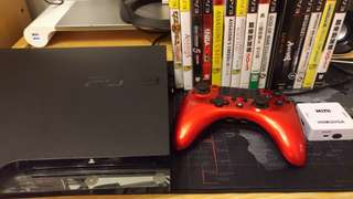 PS3主機 +搖桿+16片正版光碟