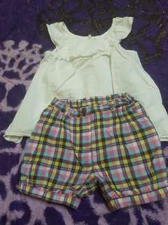 Top with shory pant