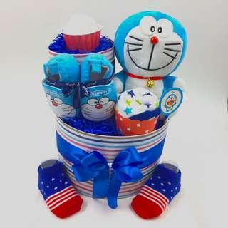 Doraemon 2-tier Diapers Cake