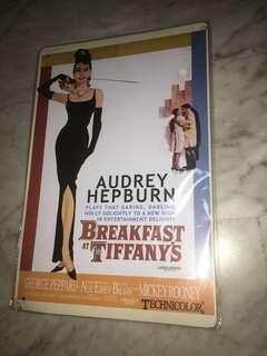Audrey Hepburn A4 metal sheet