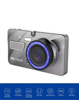 Car Camcorder - Latest Sleek Design True Full-HD Dual Lens (Front & Back) Car Dashcam DVR Recorder - Car Camera - Car Recorder