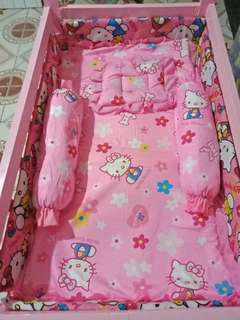 HK 3in1 Crib with Bumperpads