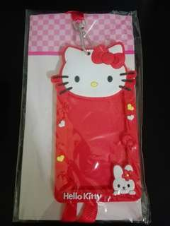 Hello Kitty Card Holder Lanyard Red