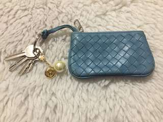 Authentic Bottega Veneta Intrecciato Nappa Aqua Cles