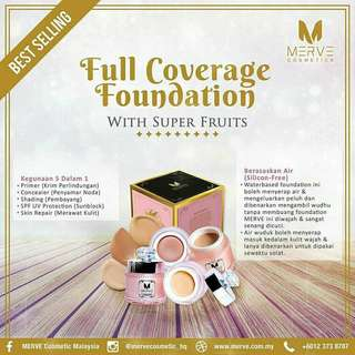 MERVE Cosmetics Full Coverage Foundation - 20gm