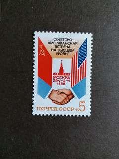 CCCP 蘇聯郵票全新1988年莫斯科蘇美高级會晤一套 1全