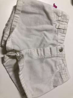 White shorts (3 years old)