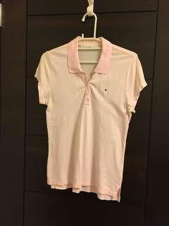 🚚 TOMMY 淺粉色短袖POLO衫