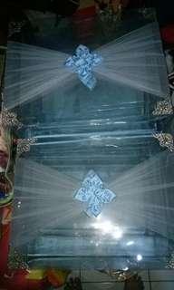 Kotak seserahan 2 set 8 kotak + 1 kotak make up kecil