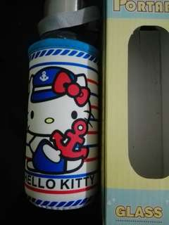 BN Hello Kitty Glass Water Bottle 430ML