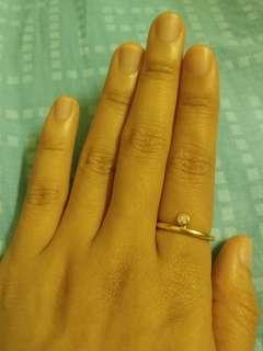 Links 18k 750 鑽石黃金介指 yg yellow gold diamond ring