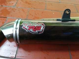 Knalpot R9 Karbon plus spakboard belakang R15