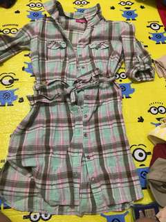Preloved checkered dress