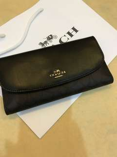 Original coach women triple fold wallet purse pouch