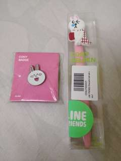Line Cony Badge with Gelpen