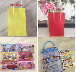 Goody bag, paper bag, goodies bag packages for kids party 🎉