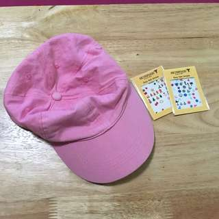 Pink Cap + Nail Stickers