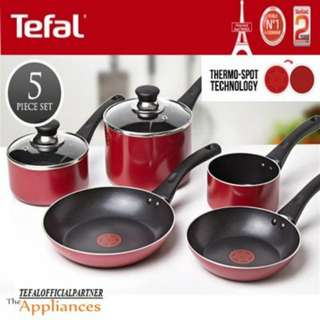 Tefal 5PCS Bistro Red Cookware Set