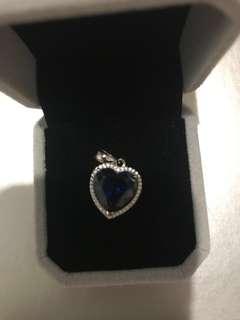 藍寶石925 銀吊墜