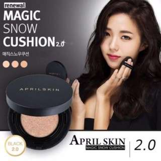 April Skin Cushion Magic Snow Black