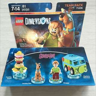 Lego Dimensions - Scooby Doo Team Pack 71206 (2 Sets Available)