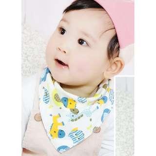 Baby Triangle Cotton Bibs
