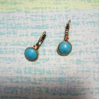 Vintage turquoise blue stone earrings
