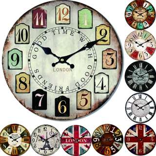 [FREE DELIVERY] Vintage Large Wall Clock Home Decoration