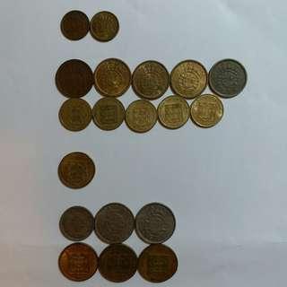 【錢幣收藏】澳門舊硬幣:1952-1988(28個)