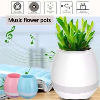 🆕💯 Music Flower Pot Smart LED Bluetooth Speaker Vase Touch Plant Piano LED Night Light For Home Decor Wireless Speakers