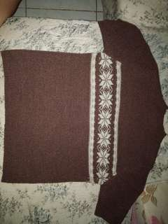 Brown Turtle Neck tops
