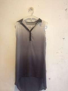 Tyler see thru gradient dress