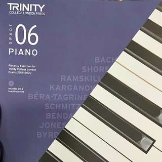 TRINITY Grade 6 2018-2020 Music Pieces book with CD