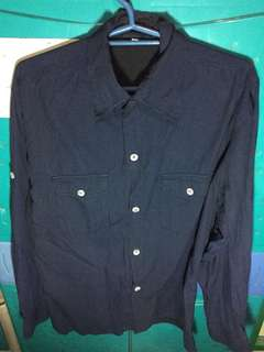 Navy Blue Striped Long Sleeve
