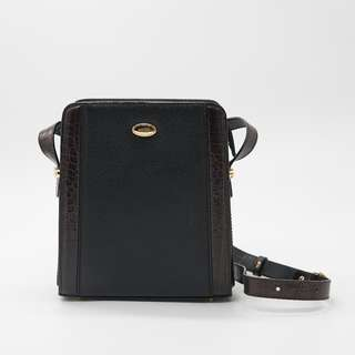 BALLY Vintage Black Leather Box Bag 復古 袋 復古袋 真皮手袋