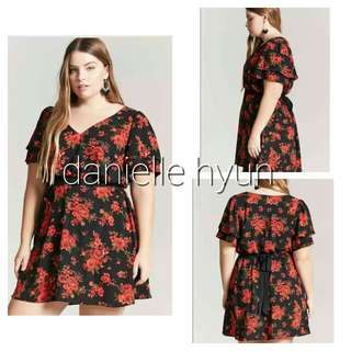 🌞Plus size floral dress