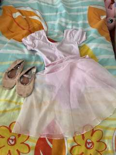 Ballet dress and shoe for 3 year old