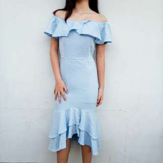 Light Blue Sabrina Dress