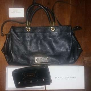 Marc by Marc jacobs Mj leather dual sling bag and zippy wallet