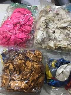 氣球四包(每包$10)(粉紅,白色,金色,混色)