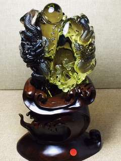 Natural tea yellow crystal dragon ball.