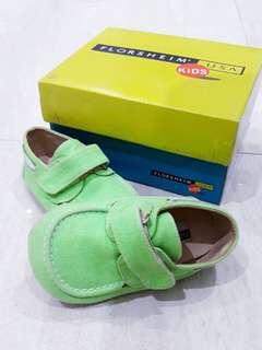 Cool shoes! Florsheim neon green canvas