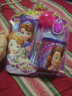 DISNEY JUNIOR SOFIA the First stationary Gift set