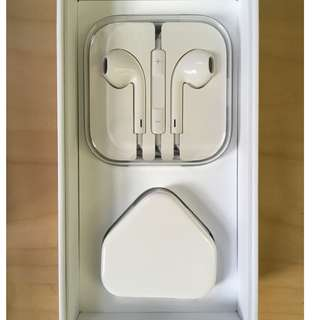 Apple iPhone earphones, adapter
