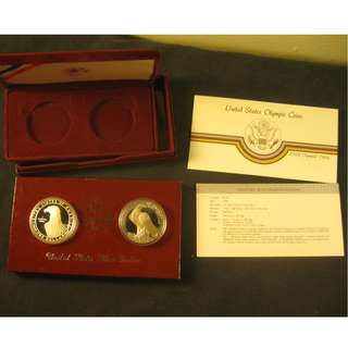 美國Silver Dollar SET 1983&1984奧運老鷹 / United States Silver Dollar SET 1983 &1984 Olympics Eagles